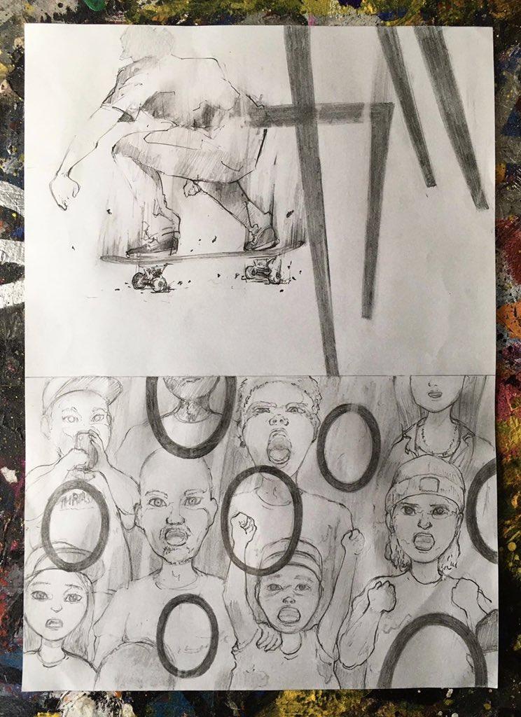 「OLLIE」 Page3  #漫画 #チャレンジ #スケボー #オーリー #マンガ #絵 #絵師  #comic #skate #ollie #artist #skateboarding #skateboard #drawing #draw #sk8 #art #pan #pancil #instaart #skatelife #skaterpic.twitter.com/gDguMvQmEL