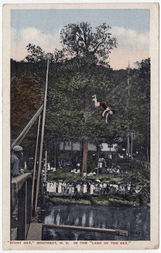 This week's #VacationNC takes us to some local watering holes.  First stop, Lake Susan at Montreat, NC. This lake was a popular locale for visitors especially in the early 1900s. Stunt Day brought visitors from all around to this man made lake each year. https://t.co/o8AWQjWmXX https://t.co/1XkXOYVgG1