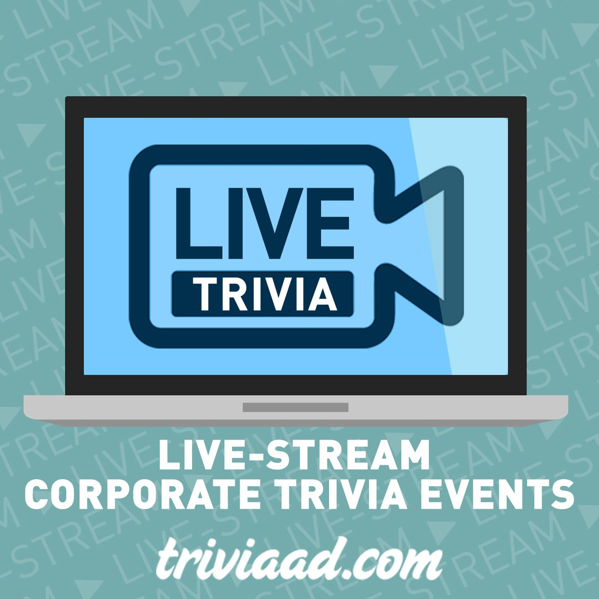 We're here to host your corporate or private virtual #trivia event. For more information, reach out to info@triviaad.com! #VirtualEvents #OnlineEvents #Zoom #VirtualTeamBuilding #TeamBuilding #VirtualHappyHour #SocialDistancingpic.twitter.com/2pa1XPHjiM