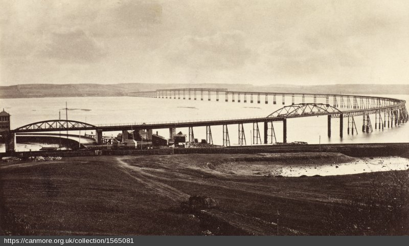 #OTD in 1878 the first Tay Bridge opened. It had taken 7 years to complete. The bridge stretched over 3km & was the longest bridge in the world when it opened. Of course it later became infamous when it collapsed in high winds in December 1879 & at least 60 people were killed.