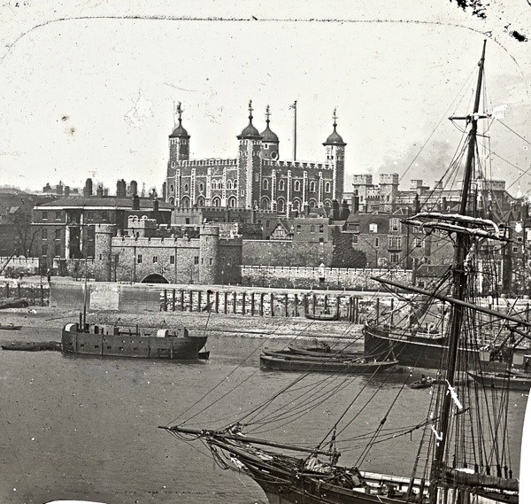 Tower of London from the river, c. 1910