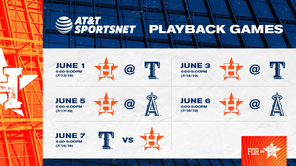 Battles of the AL West are this week's #StrosClassic playback games on @ATTSportsNetSW! #ForTheH
