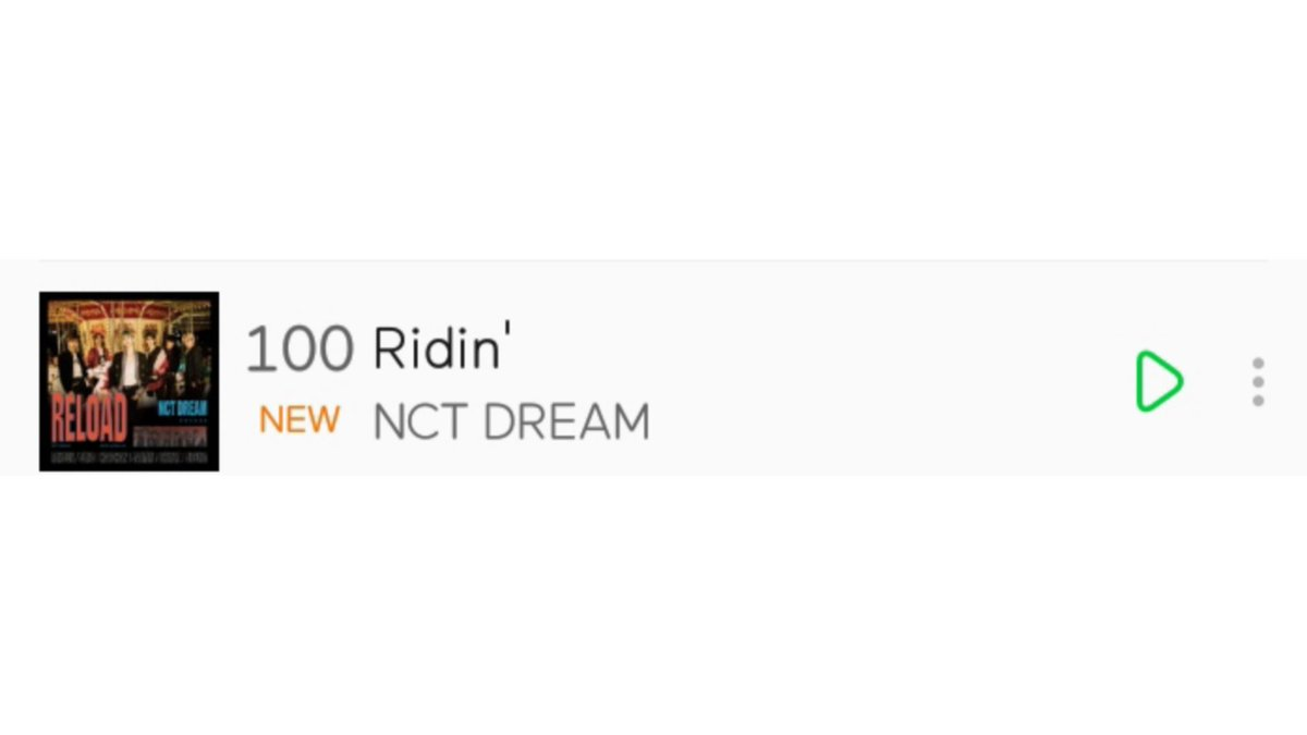 NCT Dream - Ridin' is back to Melon Real Time Chart  June 2 2020 - 1AM KST #100 (new)  #NCTDREAM @NCTsmtown_DREAM  Freezing #100!!pic.twitter.com/agGw4T6QPj