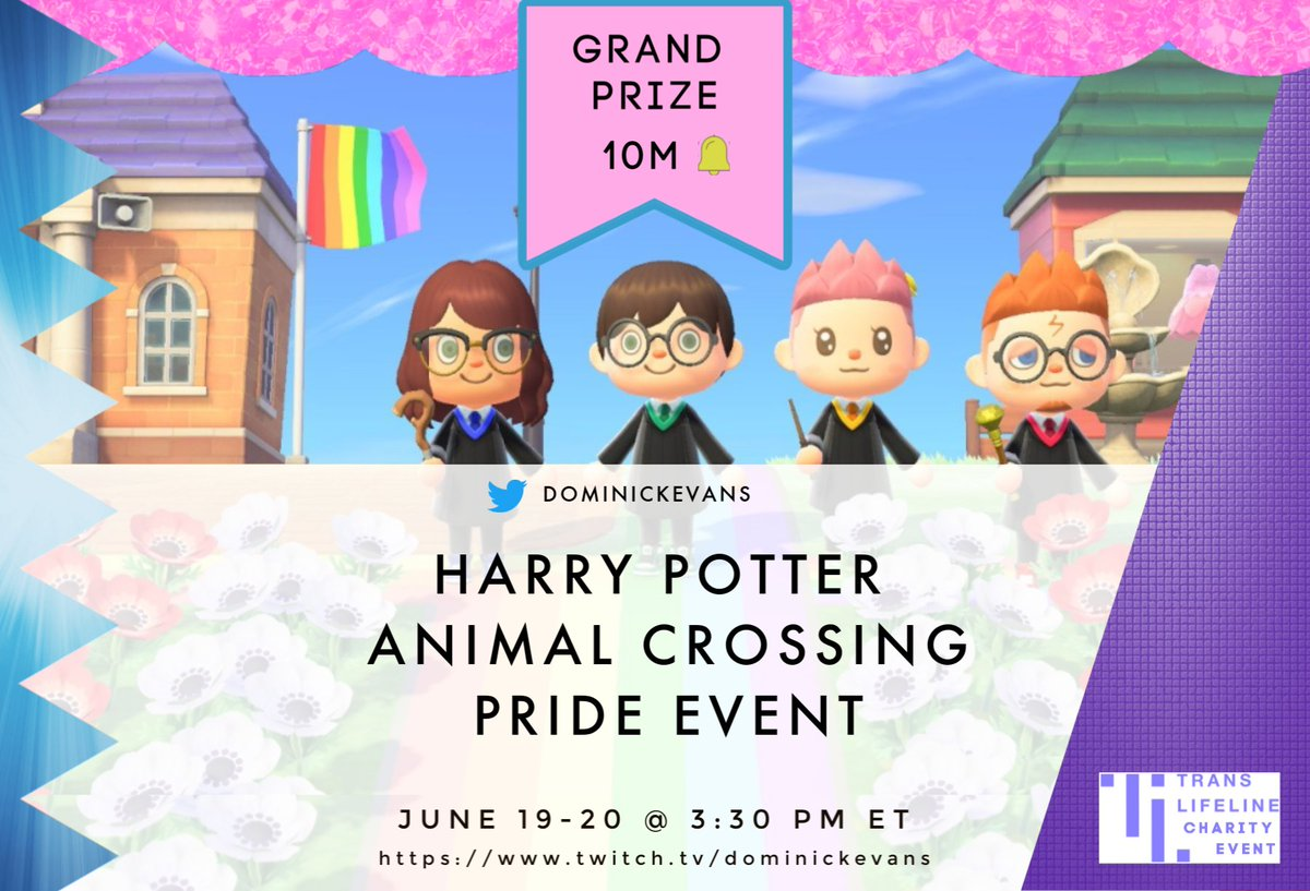 A Thread From Dominickevans Happy Pride Month Ashtyn And I Are Super Excited To Announce Our Harry Potter Acnh Pride