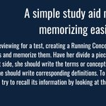 Image for the Tweet beginning: A simple study aid makes
