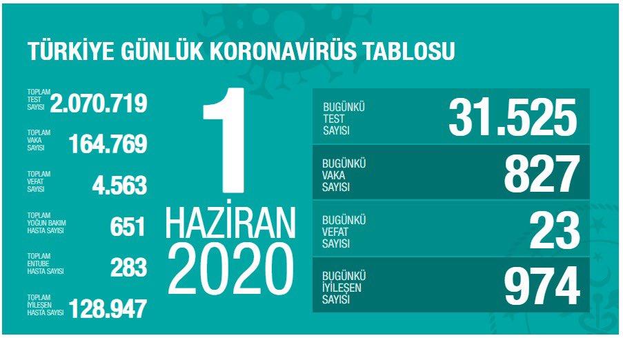 Koronavirüs'te vefat sayısı düşmeye devam ediyor: 23