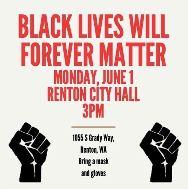 protests today in bellevue, renton, and seattle (westlake at 3)