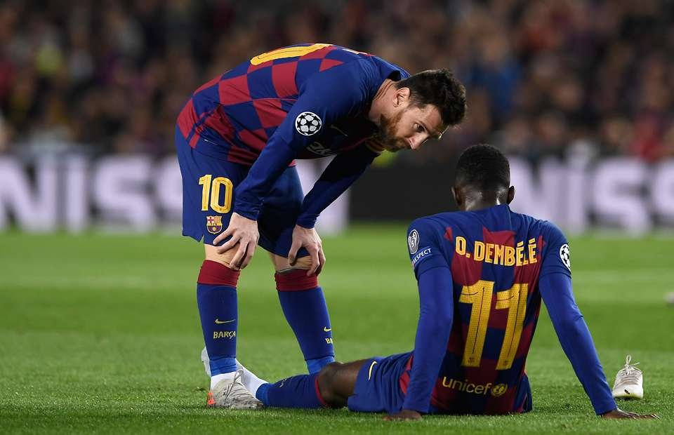 AS reports Dembélé's recovery is still slow and the Frenchman will not be able to play in the UCL this season. #BARCA pic.twitter.com/kZfxBMp0R7