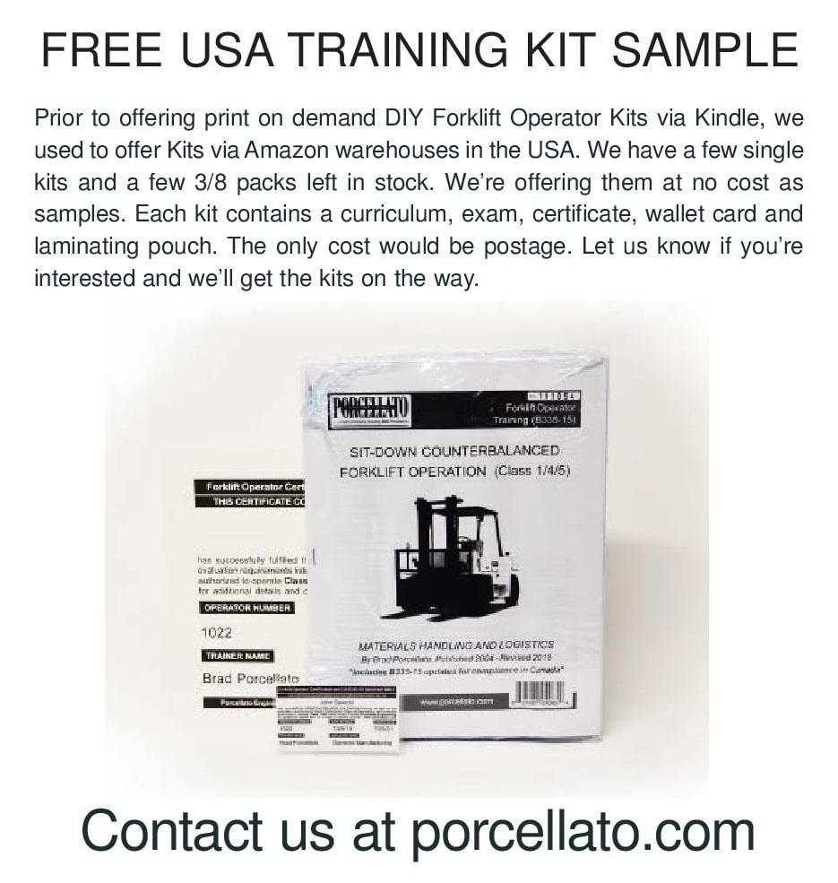 Forklift Operator Training Kits Porcellato Engineering 8 DIY-USA ...