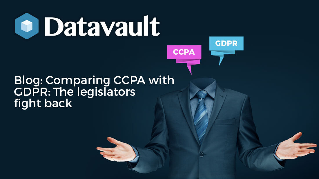 #DataVault compare #DataProtection #Regulations #CCPA and #GDPR in our new #Blog here http://bit.ly/2OOAOz3 #DataPrivacy  #Compliance #InfoSec #databreaches #DataCompliancepic.twitter.com/glhnvTPn58