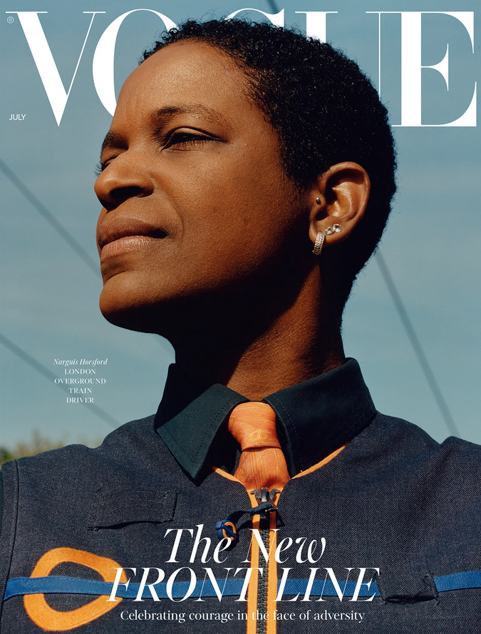 The Train Driver, The Midwife And The Supermarket Assistant: three front line workers star on the cover of British Vogue's July Issue vogue.co.uk/news/article/k…