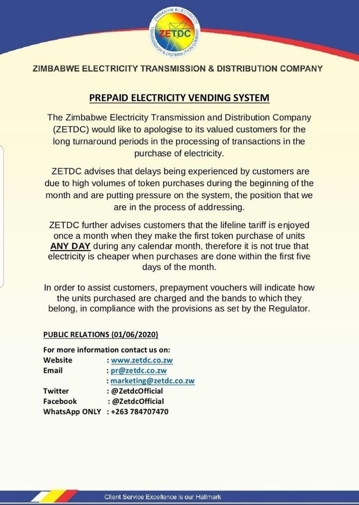 Zetdc On Twitter The Prepaid Metering Platform Is Experiencing Challenges Which Are Currently Being Addressed
