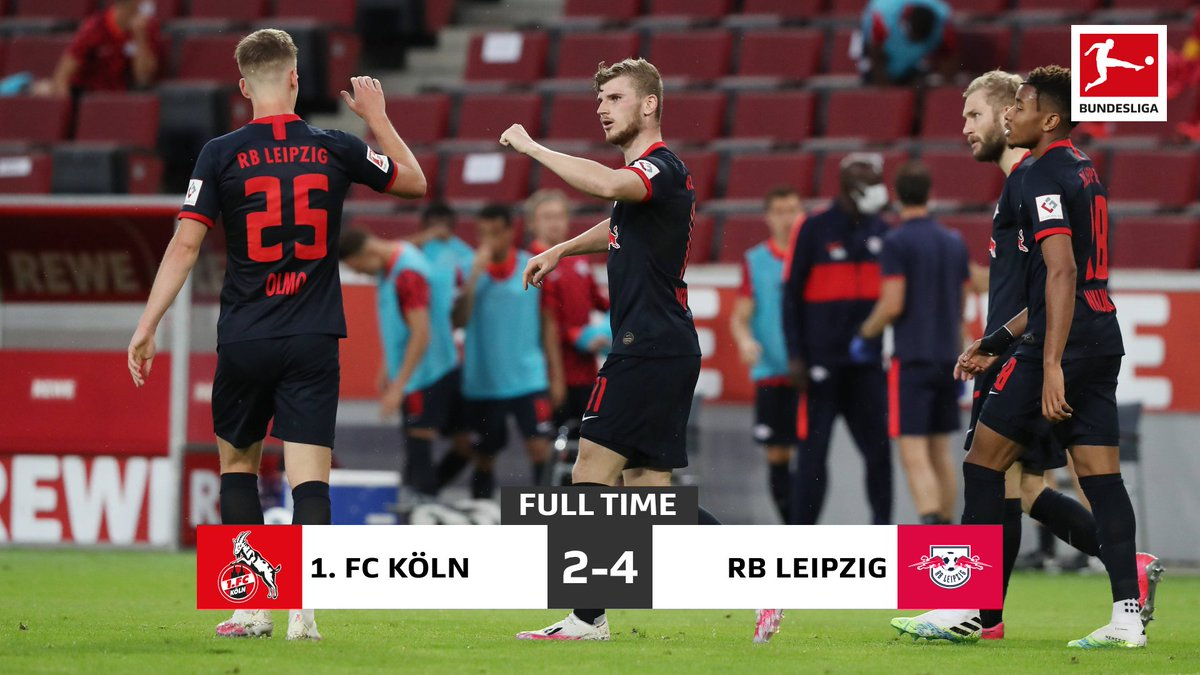 Leipzig take all three points after an exciting end-to-end battle 😎 #Bundesliga #KOERBL
