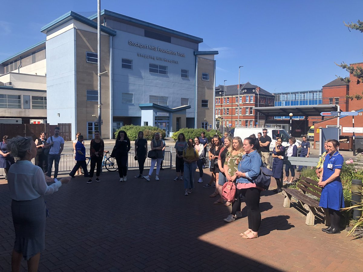 Thank you #Stockportfamily for the huge welcome you gave our new aspirant nurses from @NMSW_UG @MMUPreRegNurse1  and @ShuAdultNursing!! It was an honour to welcome them to Stockport  @alisonlynch65 @helshow1 @lmac65 @JoMartin007 @SarahBoothPEF<br>http://pic.twitter.com/jjRSaNPQYq
