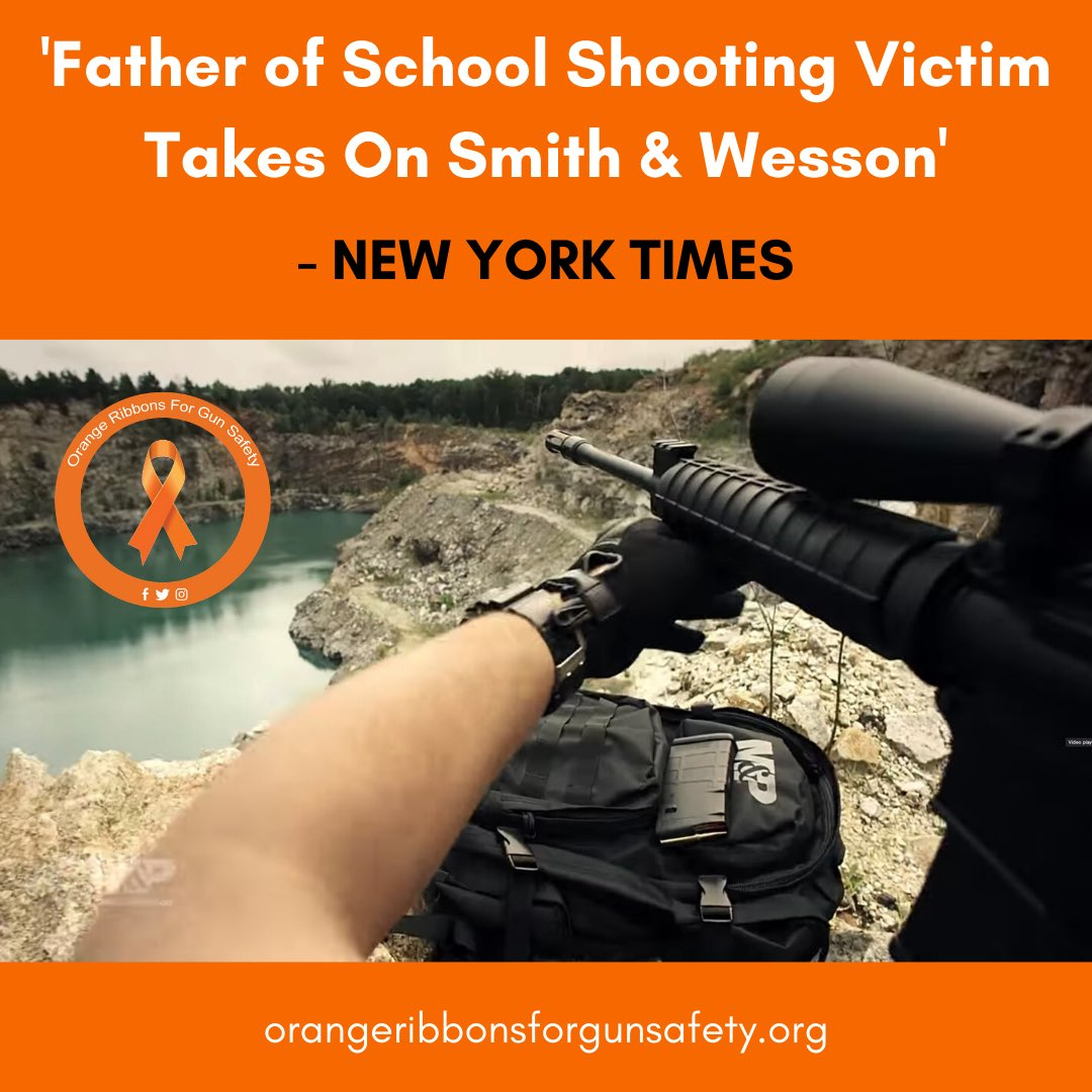 """A complaint to the @FTC by parent @Fred_Guttenberg, @Everytown, and @bradybuzz says the company """"attracts, encourages and facilitates mass shooters."""" More at https://t.co/YkYtXPKwBN.   #OrangeRibbonsForGunSafety https://t.co/ktH7JNHs3p"""