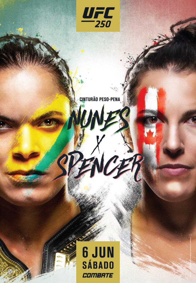 Faltam 4️⃣ dias para o #UFC250!  @Amanda_Leoa 🇧🇷🏆 x 🇨🇦 @FeeNom479  Saiba como assistir AO VIVO no @CanalCombate >> https://t.co/x9chINSBQm https://t.co/s5f37Ej9Tk