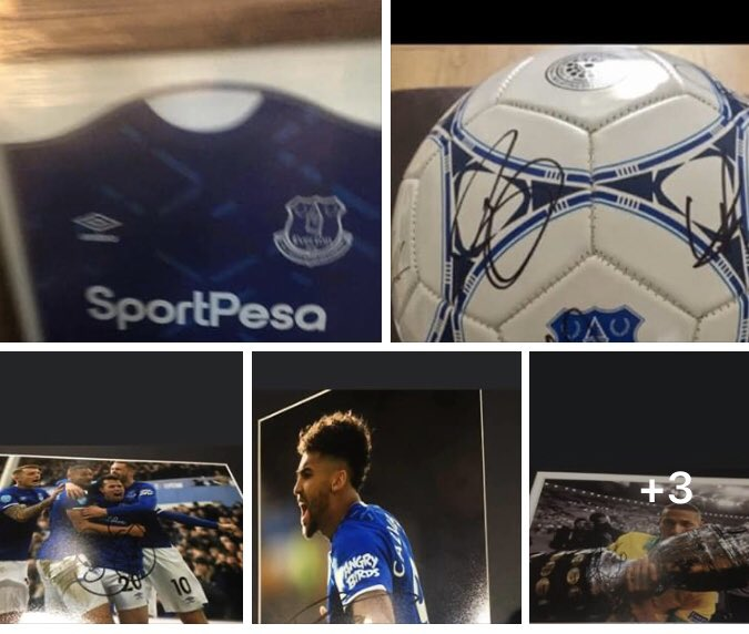 Bargain Bundle -   Perfect for fundraisers etc   signed & framed Iwobi shirt  squad signed Ball five signed & framed 16x12 prints   All for just £150 @Evertonpic.twitter.com/O23NsG6Xua