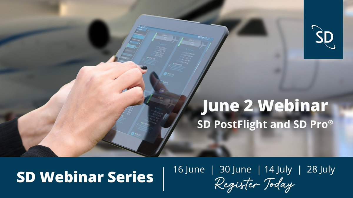 Our SD Pro® and SD PostFlight Webinar is tomorrow! Join members of the SD team to learn about the latest updates to SD's data management and communications platform, including data automation, third-party integrations, and more. Register today here: https://t.co/ZhOBOEdMGj https://t.co/6myczJ2NL2
