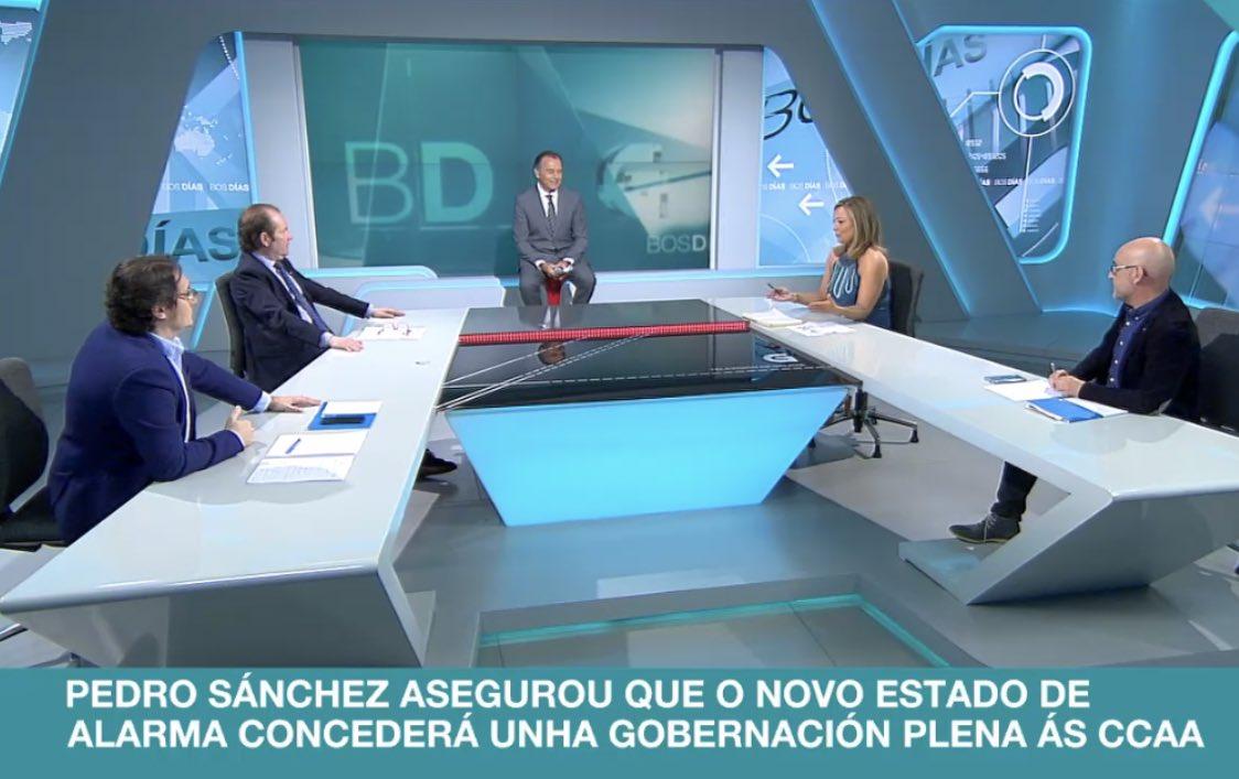 Renta Mínima vital #RMV, enquisas eleccións #Galicia a debate na @crtvg con @chamademesimbad Roberto Blanco, José Luis Jiménez, moderados por Fran López