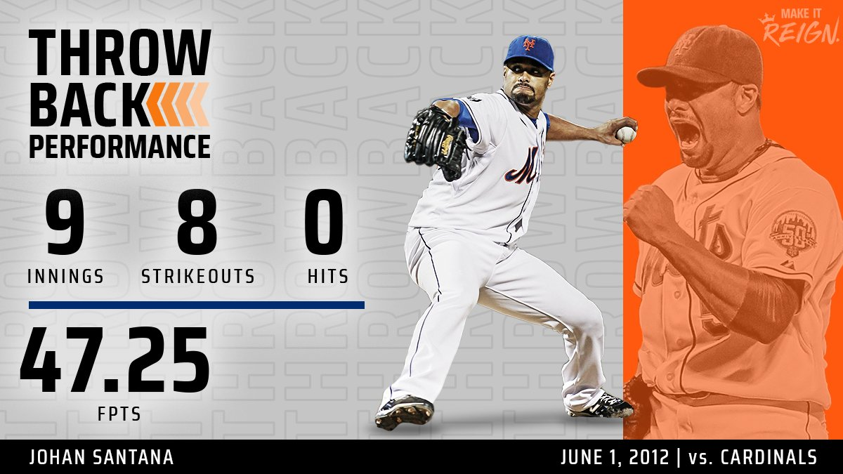 #OTD (2012): @johansantana tosses the first no-hitter in the @Mets 50-year history, blanking the Cardinals 8-0.