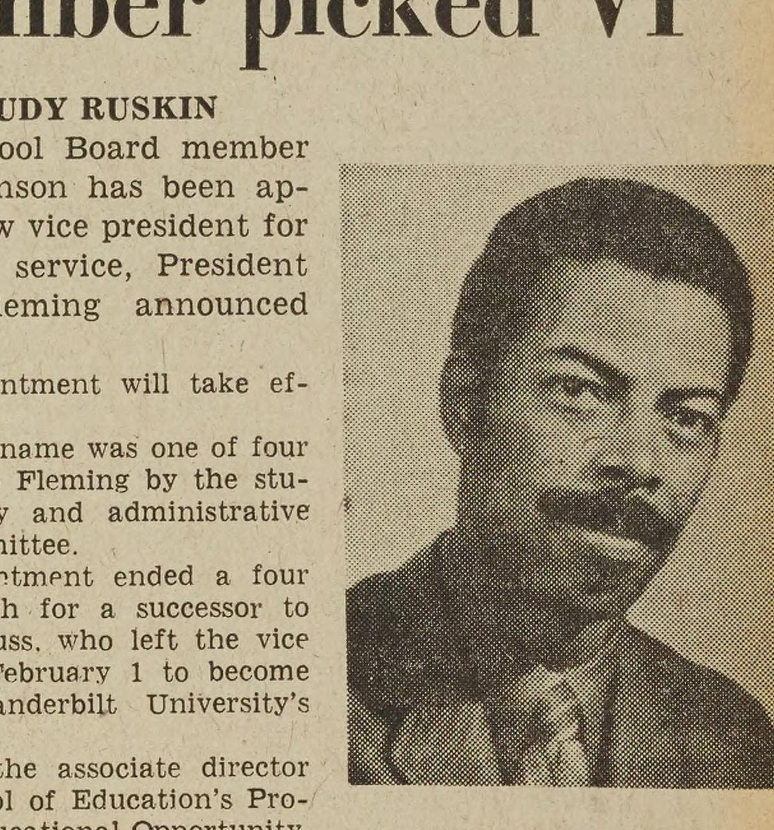 #OTD in 1972, Henry T. Johnson became the first #UMich African American executive officer when he was named vice president for student services. #OnThisDay #AnnArbor