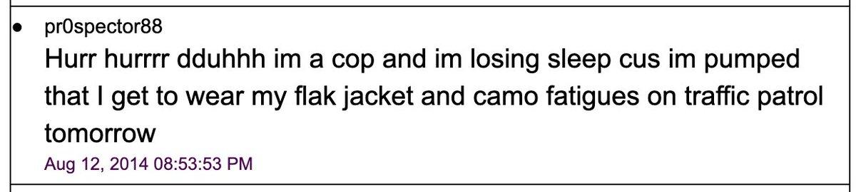keywords: cop, flak jacket, camo fatigues, losing sleep
