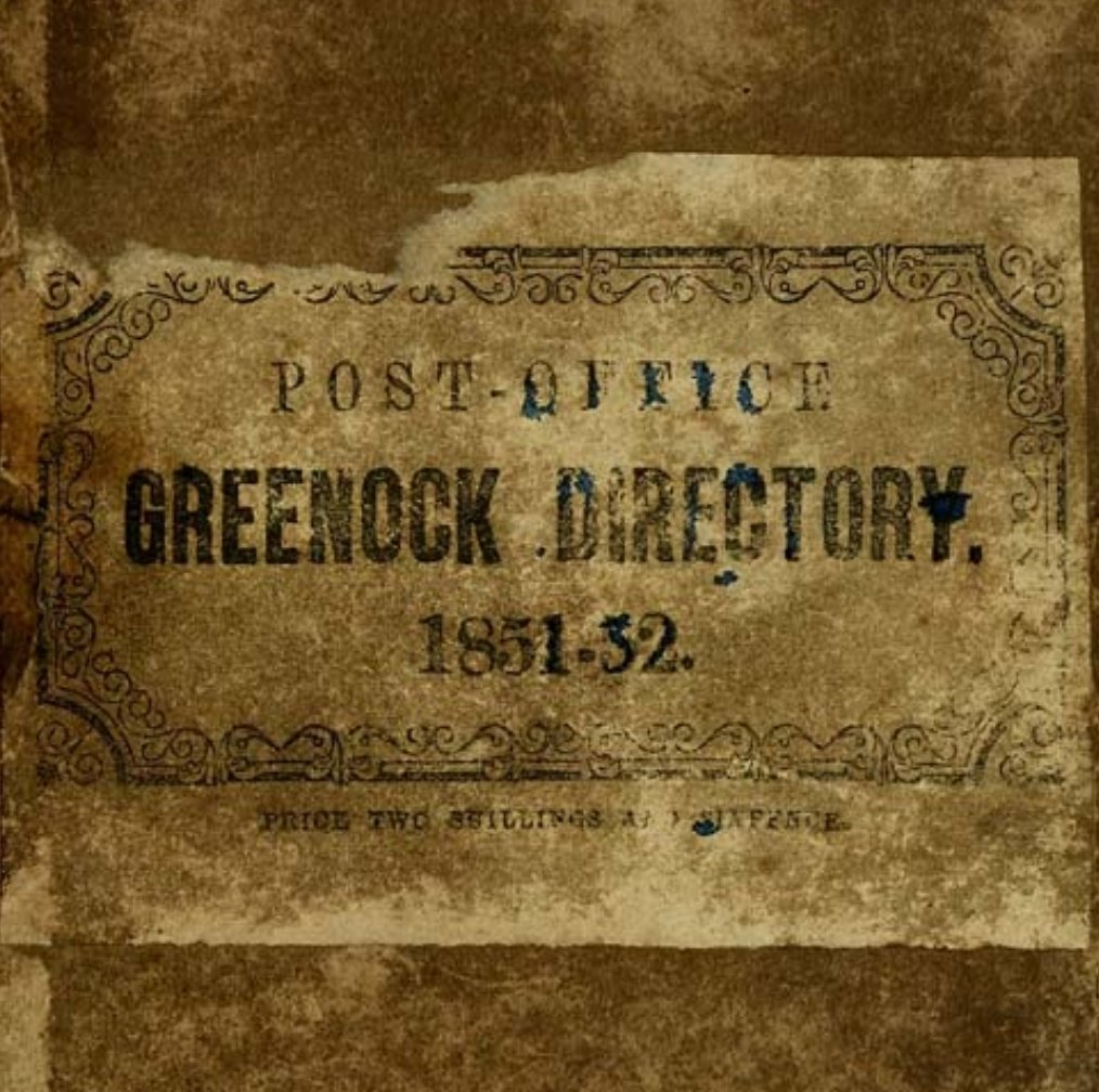 #otd 1818 the first Greenock post office and street directory was published. Digital copies for some years are available from @natlibscot @nlskelvinhall Why not carry on your research from home?  #familyhistory #MuseumsUnlocked #MuseumFromHome