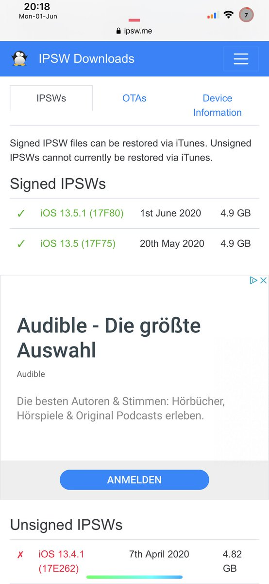 Currently is 13.5 !!!!! signed last chance to Jailbreaking your phone with #unc0ver from @Pwn20wnd don't Update to 13.5.1 it's patched https://t.co/YVWec0gJly