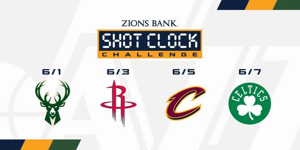 Open your Jazz app to help us defeat 𝐓𝐇𝐄𝐒𝐄 opponents this week 📱   #ShotClockChallenge | @ZionsBank » https://t.co/yjJqeiDecH https://t.co/QNXhsLyIin