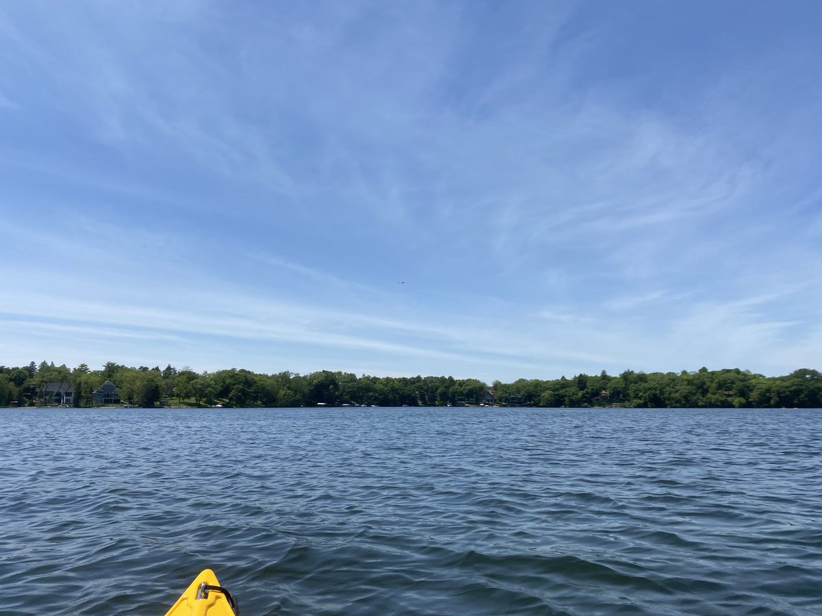 Took my kayak for a walk  yesterday to visit the bigger lake, Lake Josephine.