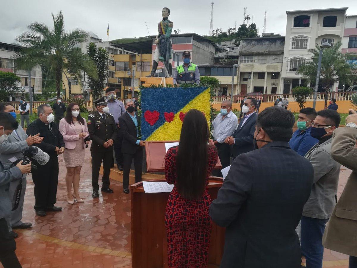 #GobernaciónCotopaxi #JefaturaPangua Participamos en Acto Solemne colocación de ofrenda floral por conmemorarse el Octogésimo Segundo Aniversario de emancipación Polícica del cantón #Pangua #QuedateEnCasa #Por un #CotopaxiMásMejor  @Gober_Cotopaxi @Presidencia_Ec @MinGobiernoEc https://t.co/kxPTw2fukO
