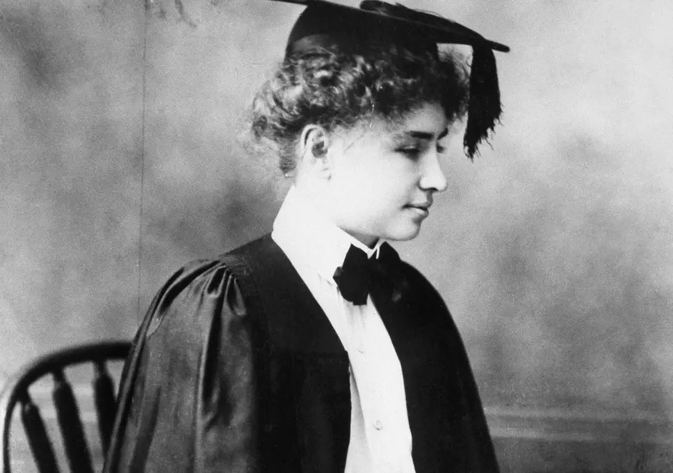 #OTD in 1968, Helen Adams Keller, author, political activist, lecturer, educator, advocate for the blind and deaf and co-founder of the ACLU, the first deaf-blind person to earn a Bachelor of Arts degree, dies at her home, Arcan Ridge, Easton, Connecticut.