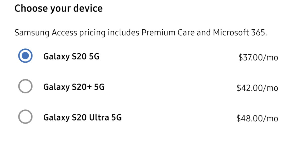Ok so I'm heavily considering this Samsung access subscription, but not for sure doing it. If I do though which one should I get? I've been saying this whole time that I thought the s20 plus was the best of the 3, but if the ultra is only $6 more a month then is it worth it? pic.twitter.com/Rutcgz6e9o