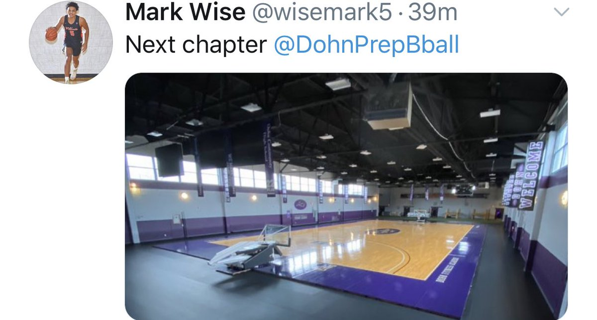 Another Commitment 🖊📄 6'4 Positionless Mark Wise a Deer Park HighSchool Undefeated State Champ, will officially be joining the @DohnPrepBball @CoachSammyV 🟣🏀Officially #chasingscholarships @wisemark5 @270Hoops @ZachFleer270 @therealBHTV @Mytaycam @275Hoops @JakeWelch275 https://t.co/Pul8ObocAh