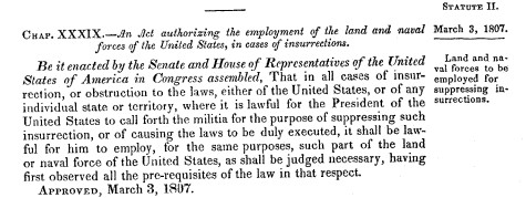 Steven Portnoy On Twitter How Could Trump Send In Troops To Quell Protests Presssec Cites The Insurrection Act Of 1807