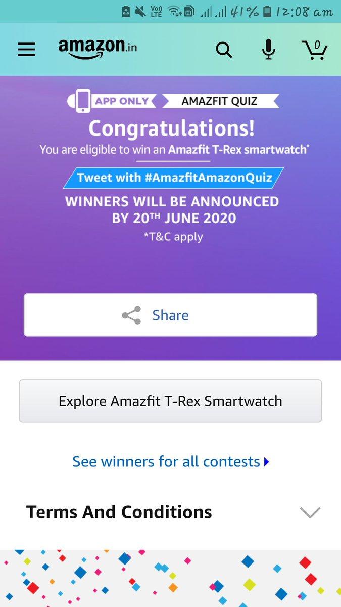#AmazfitAmazonQuiz  #QuizTimeMorningsWithAmazon  #AmazonSpinandWinpic.twitter.com/M4pPNasqMH