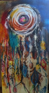 Dream Weaver, one of a kind original painting #soulecting #nonprofit http://bit.ly/1LTChJb pic.twitter.com/wohJjvsTDz