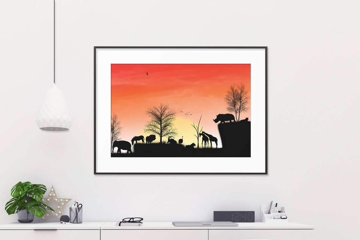Excited to share the latest addition to my #etsy shop: African digital paper, african backdrop, african landscapes, african safari decor, african animals pictures, african landscape painting  #white #birthday #valentinesday #orange #art #drawing