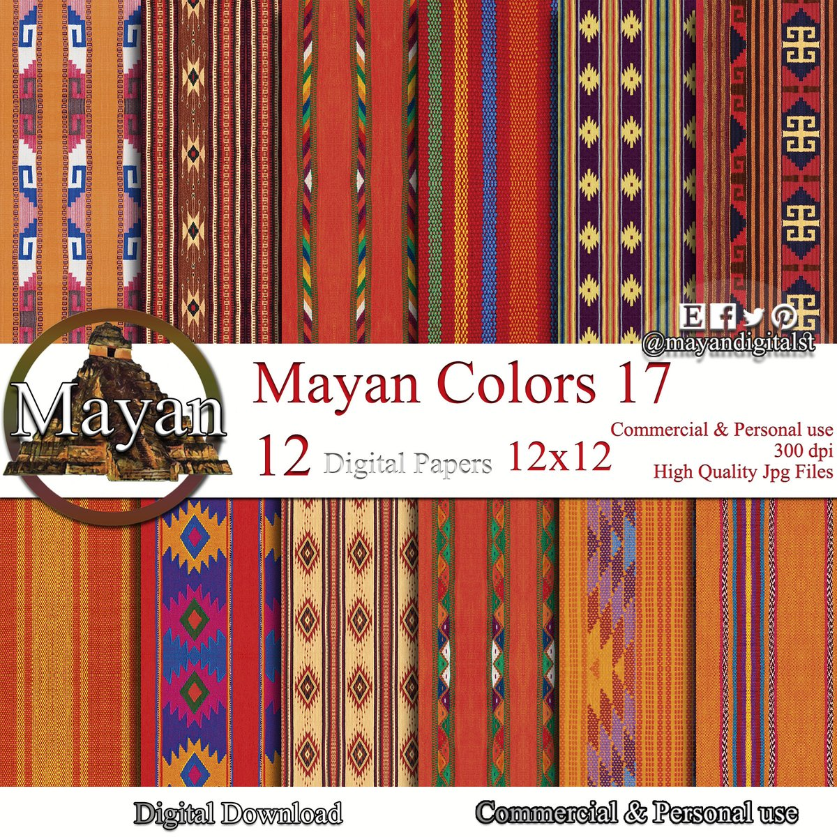 Excited to share the latest addition to my #etsy shop: Mexican digital paper, mexican textiles, mexican blanket, mexican art, mexican textile art, mexican digital background, mexican fabric print  #red #birthday #people #orange #mexican #mexican