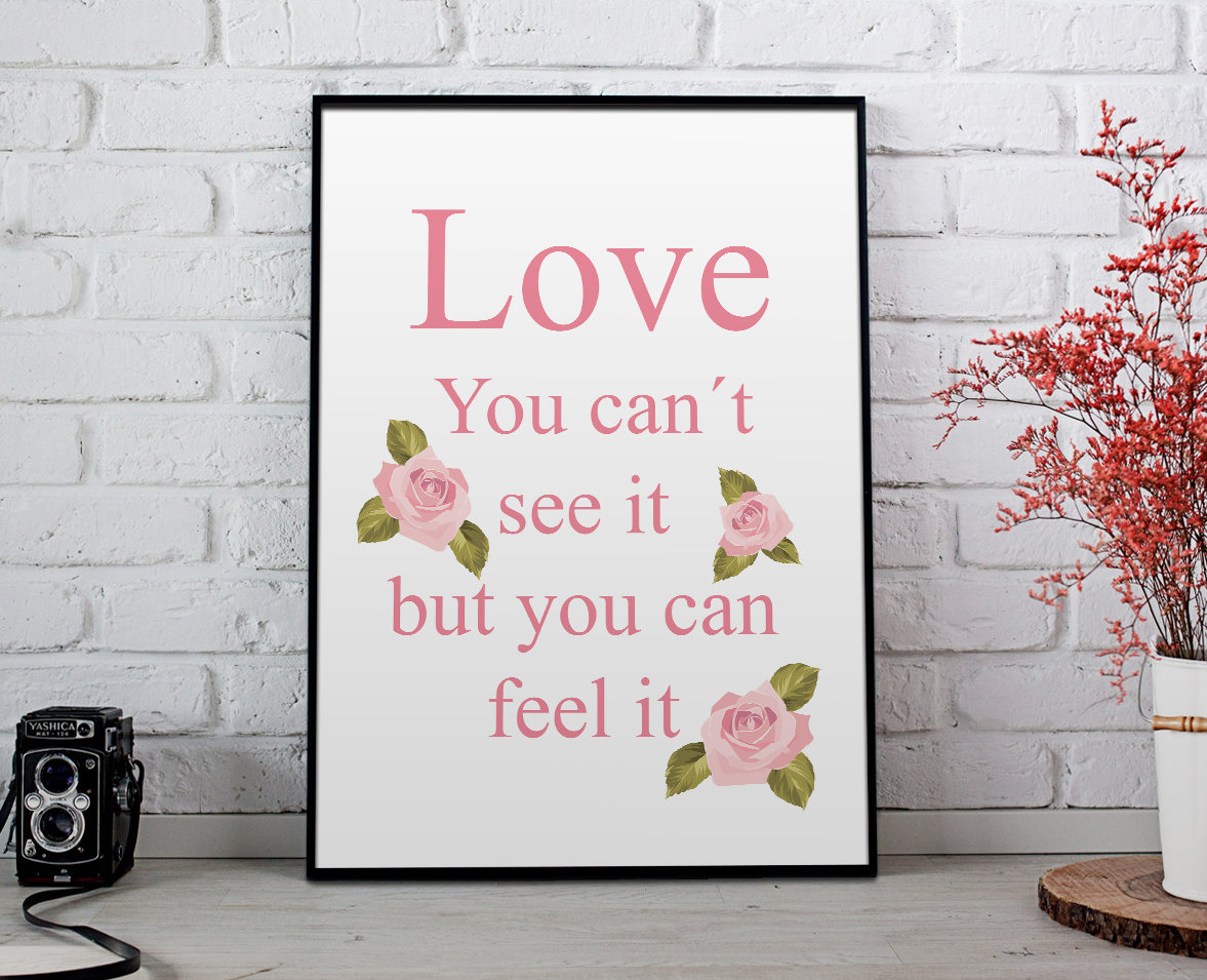 Excited to share the latest addition to my #etsy shop: Love wall letters, phrase wall art, love digital print, love wall print, phrase wall decor, love wall art bedroom, love wall art prints  #white #birthday #valentinesday #pink #art #wall #digi