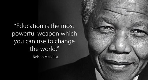 """""""Education is the most powerful weapon which you can use to change the world."""" Nelson Mandala. #ocsb #Education #TheFuturepic.twitter.com/HljAeofbp8"""