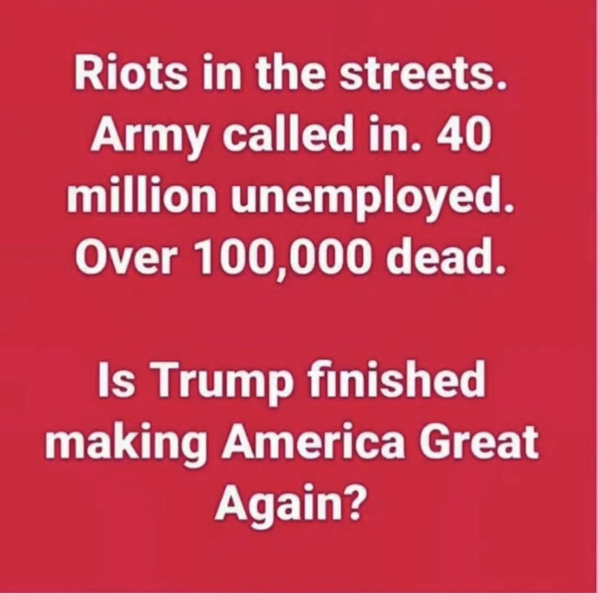 @ColvertJenna @pappyG45 @CQWarrior1 Trump is toast and you know it MAGAt. History will not be kind to the Coward in Chief #WorstPresidentInHistory #TrumpDeathToll100K #CadetBoneSpurs #CowardinChief https://t.co/lZgZLlFL1Q