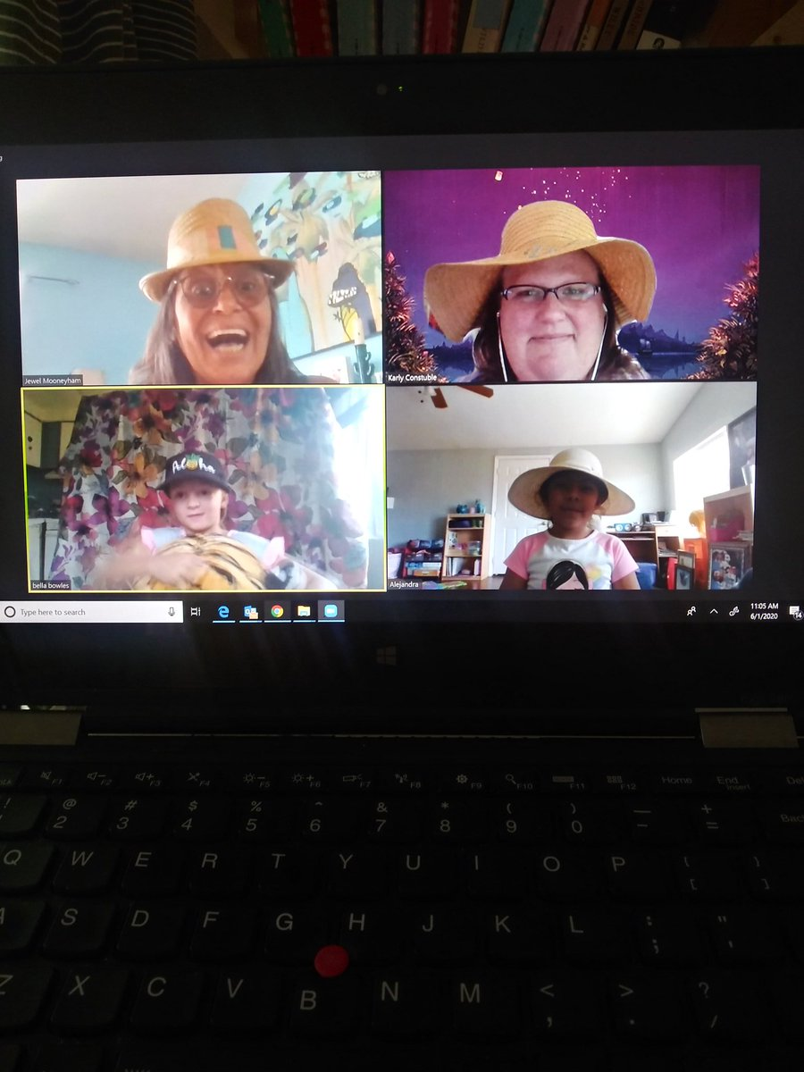 My last support zoom in 1st grade, it was hat day and we had an art lesson...so much fun!! #artlesson #1stgrade #specialedteacherpic.twitter.com/QNGwoP5qP0