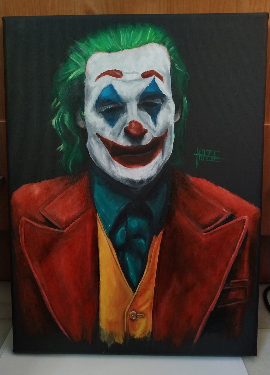 """""""Is it just me or is it getting crazier out there?""""  #JOKER al óleo. pic.twitter.com/HxQEUmNVvt"""