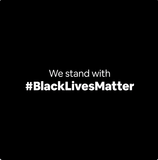 Image for the Tweet beginning: We stand with #BlackLivesMatter. We