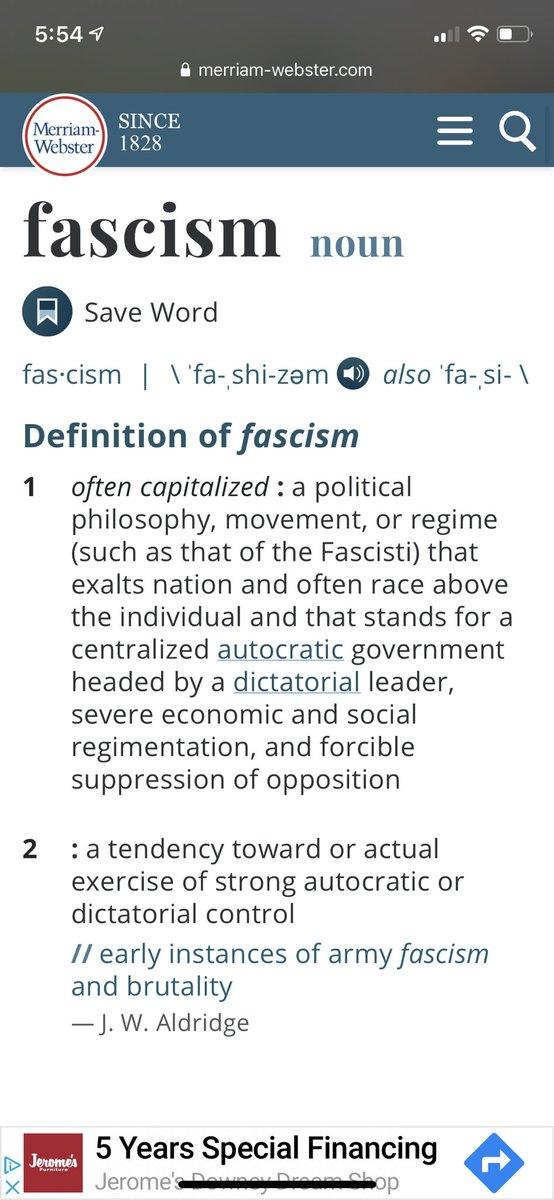 Donald Trump is a fascist. https://t.co/6aMsLVci2p