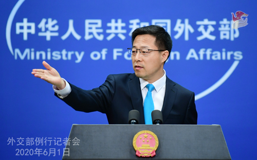 """Black lives matter and their human rights should be guaranteed,"" said #China's FM spokesperson on Monday, urging U.S. to eliminate racial discrimination, protect minorities"