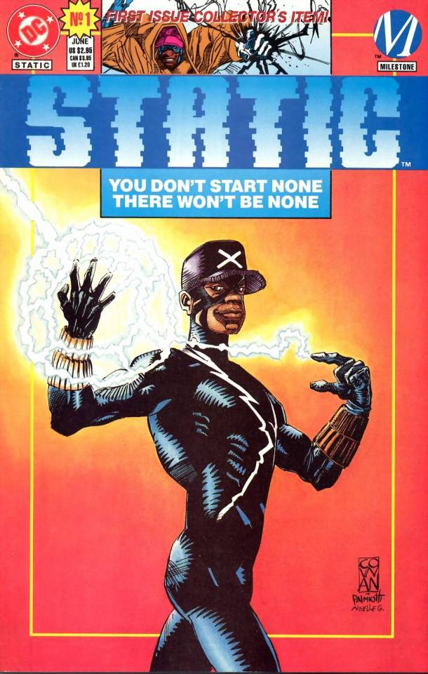 Today is the 27th anniversary of the publication of STATIC #1 from Milestone and DC Comics. The young Virgil Hawkins is a character of significant symbolism now more than ever. Thanks to @DenysCowan and the Milestone Media, Inc. founders for lighting the spark. https://t.co/LuKfkN3Cqa
