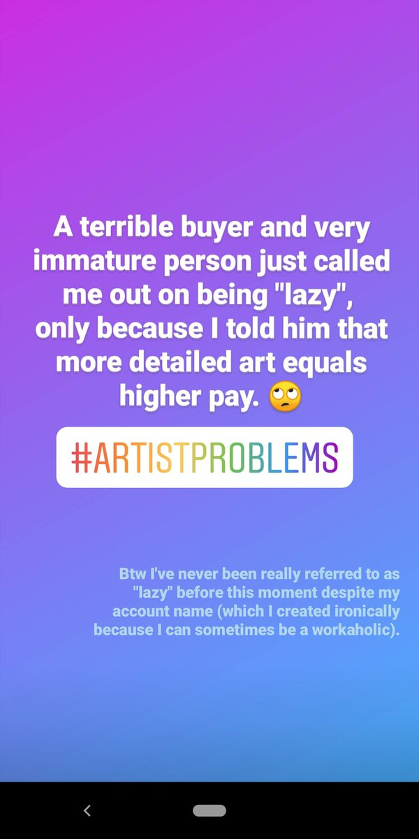 """This is another quote to add to my list of """"Terrible commissioner comments"""". Beware from cheap art buyers. #artistproblems #commissions #art #artwork #artistlife #illustrationartistspic.twitter.com/TNb1HEfNB6"""