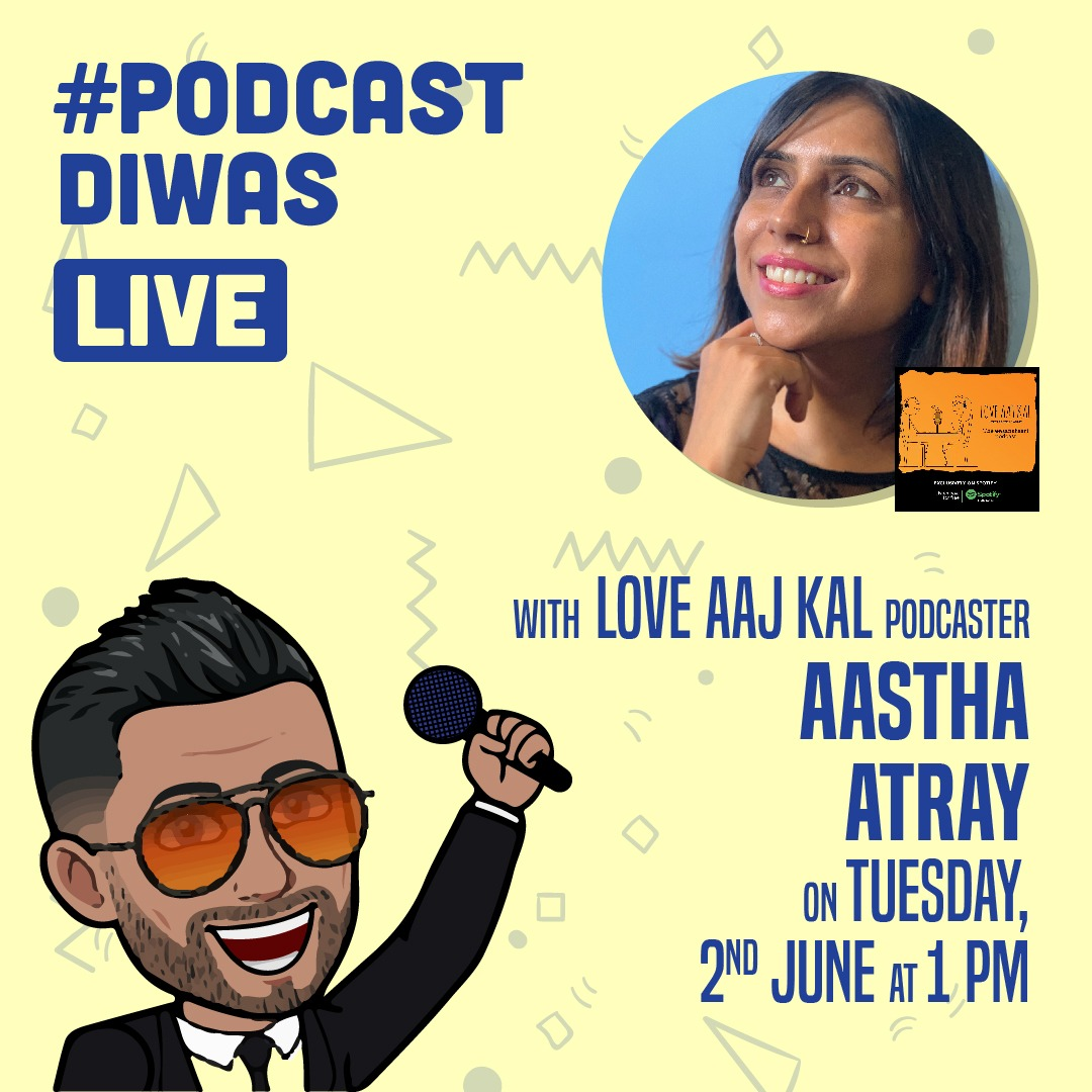 Will be going live with Love Aaj Kal Podcaster @aasthaatray today at 1pm! We will be talking about everything and anything regarding Podcasts and it's growth in current times. https://t.co/8SY9F5ixia  #TuesdayThoughts #podcasting #podcastlife https://t.co/yfqbpa5PFR